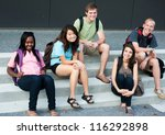 diverse group of friends... | Shutterstock . vector #116292898