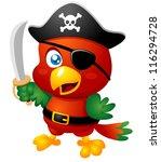 illustration of cartoon pirate... | Shutterstock .eps vector #116294728
