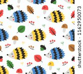 autumn seamless pattern with... | Shutterstock .eps vector #1162950073