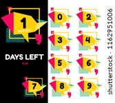 days left to go promotional... | Shutterstock .eps vector #1162951006