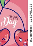 happy day card | Shutterstock .eps vector #1162951336