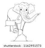 cartoon stick drawing... | Shutterstock .eps vector #1162951573