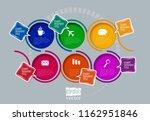 design colorful presentation... | Shutterstock .eps vector #1162951846