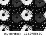 seamless pattern with floral... | Shutterstock . vector #1162955680