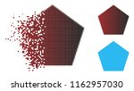 filled pentagon icon in... | Shutterstock .eps vector #1162957030