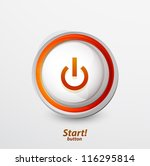 yellow orange power button.... | Shutterstock .eps vector #116295814