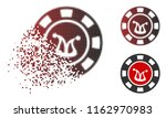 joker casino chip icon in... | Shutterstock .eps vector #1162970983