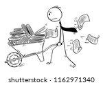 cartoon stick drawing... | Shutterstock .eps vector #1162971340