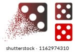dice icon in dispersed ... | Shutterstock .eps vector #1162974310