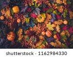 creative autumn halloween... | Shutterstock . vector #1162984330