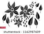 vector set of hand drawing wild ... | Shutterstock .eps vector #1162987609