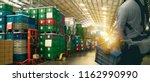 iot smart factory industry 4.0... | Shutterstock . vector #1162990990