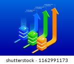 isometric infographic elements... | Shutterstock .eps vector #1162991173