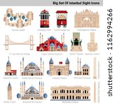 big istanbul s icon set... | Shutterstock .eps vector #1162994266