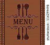 sample menu for the restaurant | Shutterstock .eps vector #116299498