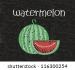 watermelon  written on...   Shutterstock . vector #116300254