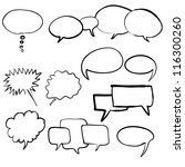 think bubble and talk bubble...   Shutterstock .eps vector #116300260