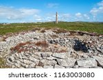 ballowall barrow  ancient site... | Shutterstock . vector #1163003080