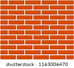 colorful cartoon brick wall.... | Shutterstock .eps vector #1163006470