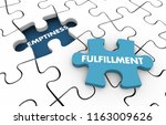 emptiness vs fulfillment... | Shutterstock . vector #1163009626