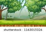 green woods landscape... | Shutterstock .eps vector #1163015326