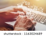 email marketing and newsletter... | Shutterstock . vector #1163024689