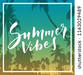 summer vibes. calligraphic... | Shutterstock .eps vector #1163029489