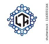la initial letter hexagonal... | Shutterstock .eps vector #1163031166