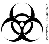 biohazard symbol isolated on... | Shutterstock . vector #1163037676