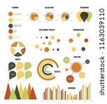infographic elements  info... | Shutterstock .eps vector #1163039110