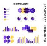 infographic elements  data... | Shutterstock .eps vector #1163039239