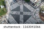 tokyo   ginza   scramble... | Shutterstock . vector #1163041066