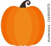orange pumpkin   orange pumpkin ... | Shutterstock .eps vector #1163043373