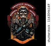 vintage motorcycle logo | Shutterstock .eps vector #1163046169