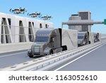 fleet of american trucks  cargo ... | Shutterstock . vector #1163052610
