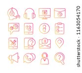 contact and call center icons ... | Shutterstock .eps vector #1163054170