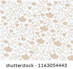 background with love patterns | Shutterstock .eps vector #1163054443