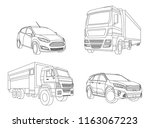 car isolated illustration icon... | Shutterstock .eps vector #1163067223