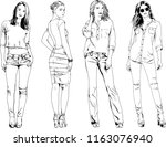 vector drawings on the theme of ... | Shutterstock .eps vector #1163076940