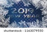 2019 textures blue ice. ice... | Shutterstock .eps vector #1163079550