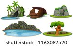 a set of stone and nature... | Shutterstock .eps vector #1163082520
