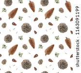 seamless pattern with... | Shutterstock . vector #1163091199
