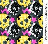 skull funky seamless rough...   Shutterstock .eps vector #1163098519