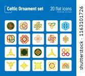 celtic ornament icon set.... | Shutterstock .eps vector #1163101726