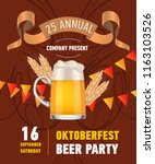 oktoberfest beer party...   Shutterstock .eps vector #1163103526