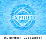 expired sky blue emblem with... | Shutterstock .eps vector #1163108569