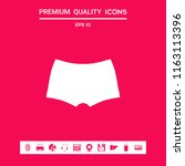 men underwear  the silhouette.... | Shutterstock .eps vector #1163113396