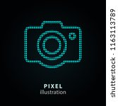 camera   pixel icon. vector... | Shutterstock .eps vector #1163113789