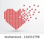 pixel heart. vector