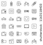 thin line vector icon set  ... | Shutterstock .eps vector #1163118403